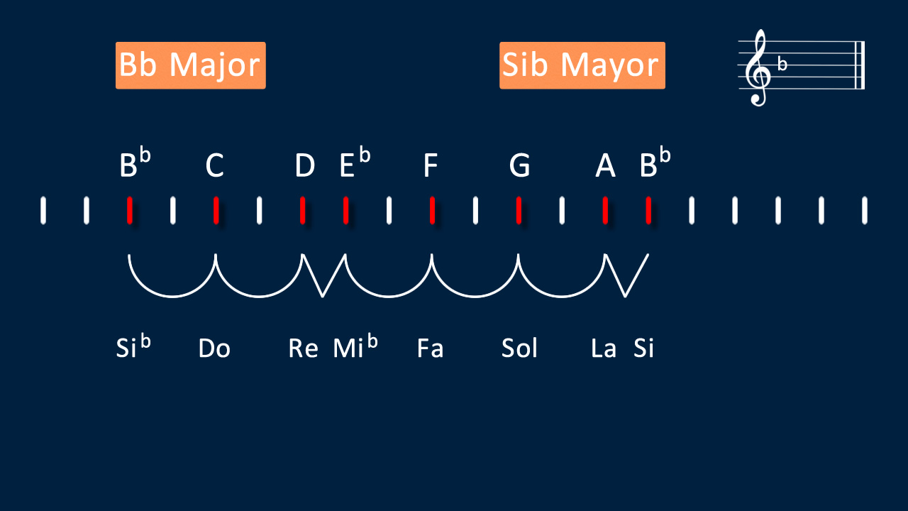 B flat Major Scale